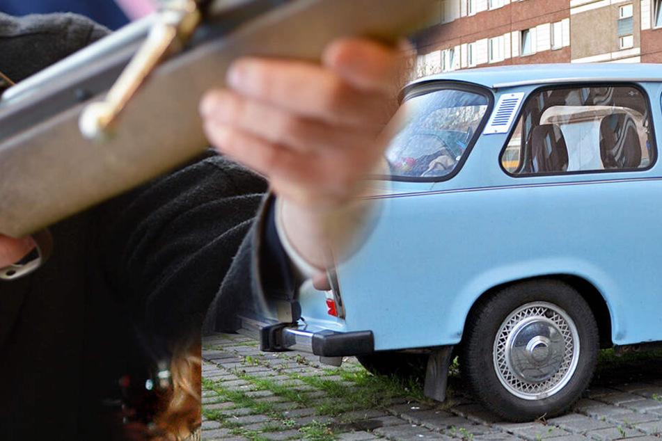 Dresden: Weil er seinen Trabi klauen wollte! Mann geht mit Luftgewehr auf Dieb los