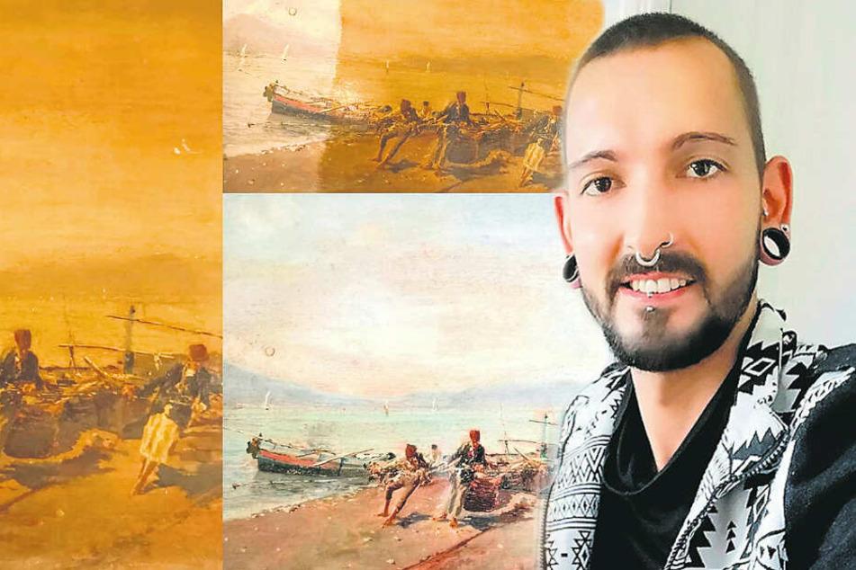 """Gemälde selbst restauriert, TV-Händler Fabian Kahl spart sich """"Bares für Rares"""""""
