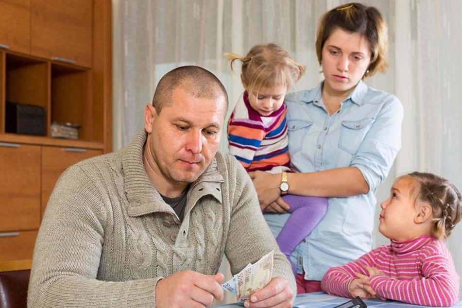 In vielen Familien reicht das Geld hinten und vorne nicht.