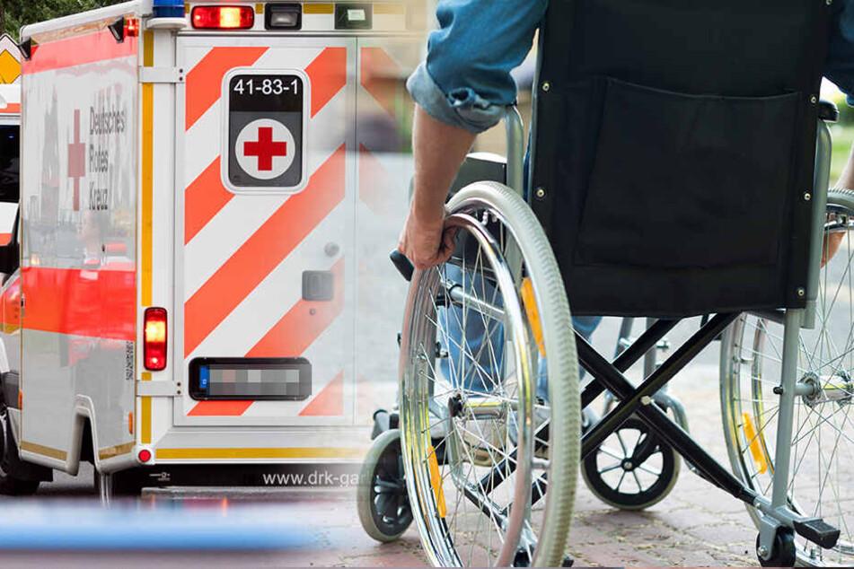 Tragischer Unfall bei Kamenz: Rollstuhlfahrer stirbt vor den Augen seiner Frau