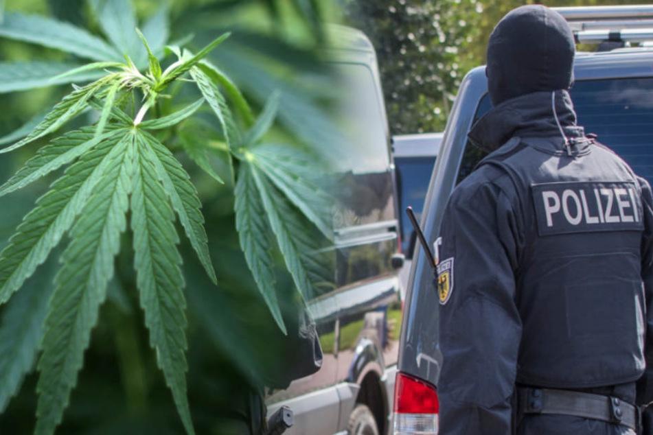 Drogen, Tausende Euro Bargeld und eine Maschinenpistole fanden die Beamten. (Fotomontage/Symbolbild)