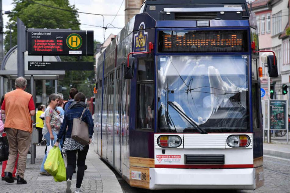 Zwischen Anger und Domplatz wird es bis September keinen Straßenbahnverkehr geben. (Symbolbild)