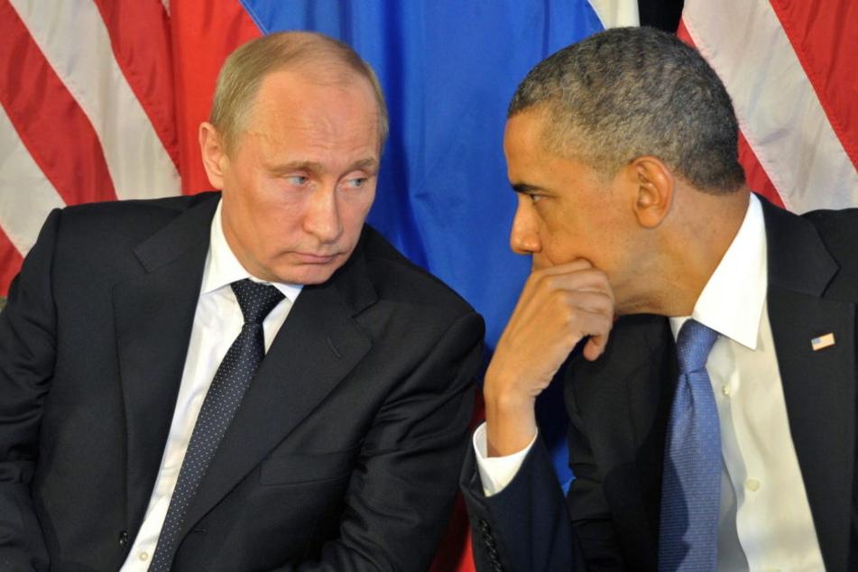 US-Präsident Barack Obama im Gespräch mit Wladimir Putin.