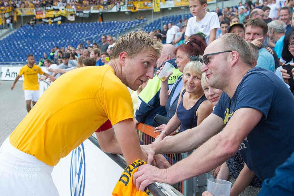 Marco Hartmann gab mal wieder sein letztes Hemd für die Fans.