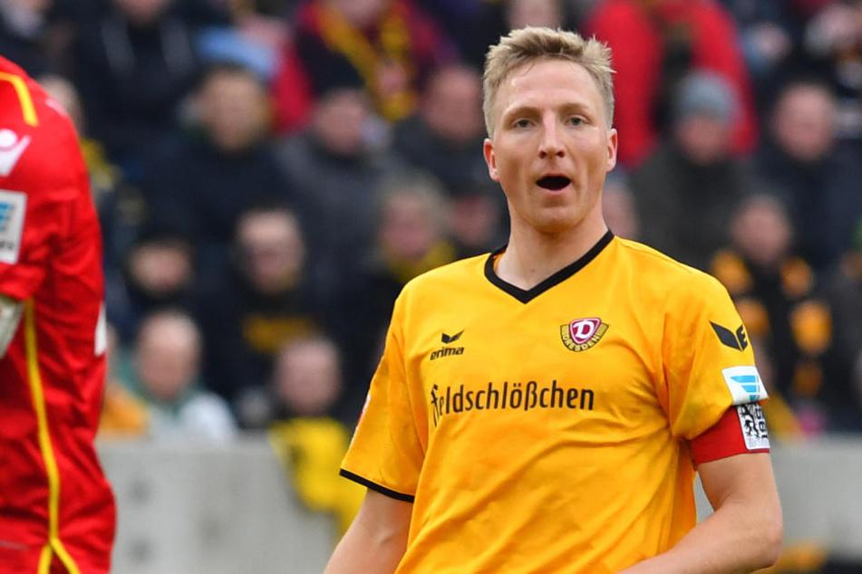 Bleibt bis 2020 bei Dynamo: Kapitän Marco Hartmann.