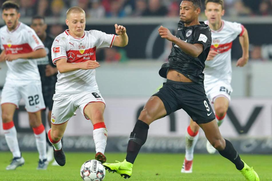 Meistens ein Schritt schneller als der VfB: Die Eintracht aus Frankfurt mit Stürmer Sébastian Haller.