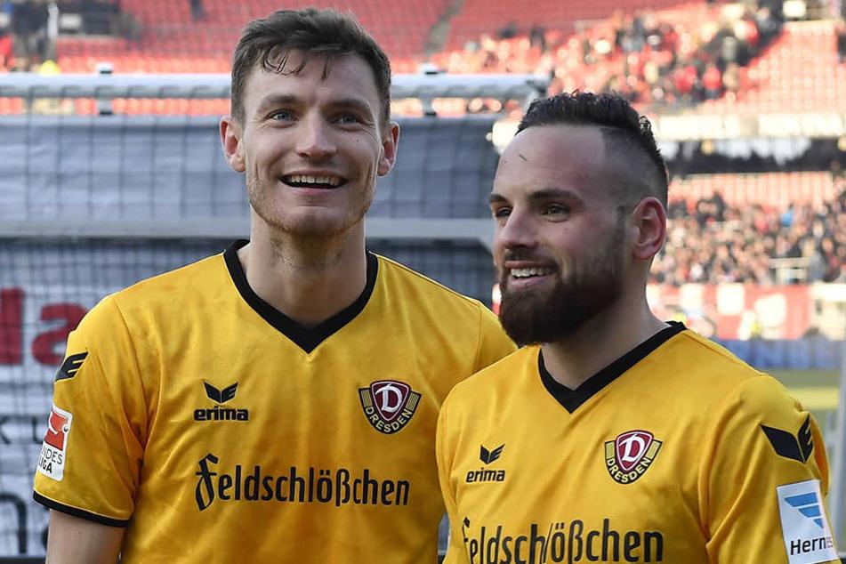 Am Wochenende leider getrennt: Florian Ballas (links) muss mit einer Kapselverletzung in der Schulter pausieren.