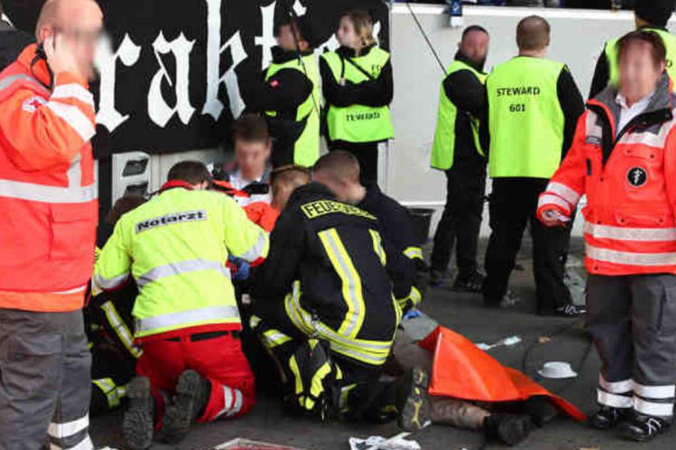 HSV-Fan Thorsten stürzte fünf Meter in die Tiefe und musste künstlich beatmet werden.
