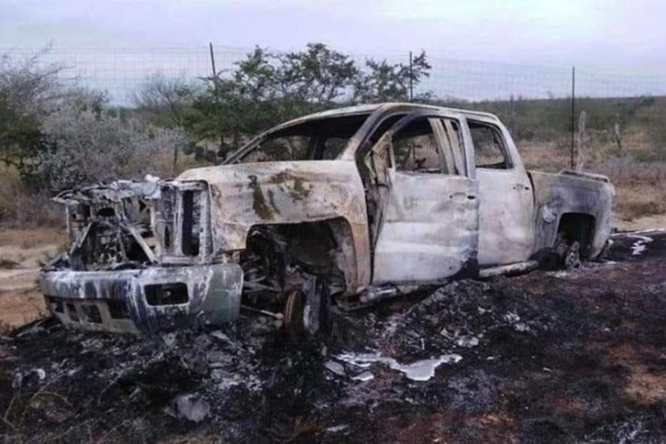 Mehrere Fahrzeuge wurden in Brand gesetzt.