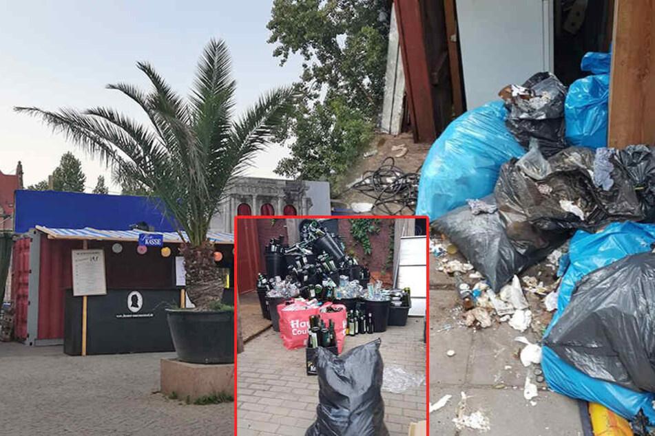 Müll, Dreck, Dixie-Klo: Chaotische Zustände im neuen Theater an der Museumsinsel