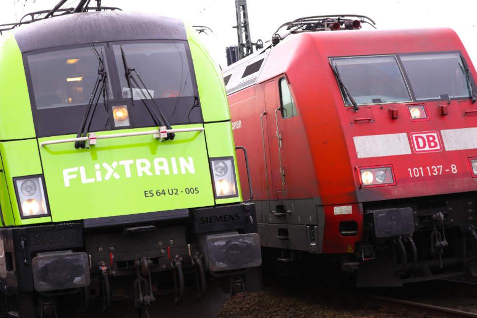 Liefern sich ein Wettrennen um die Kunden: Flixtrain und die Deutsche Bahn.