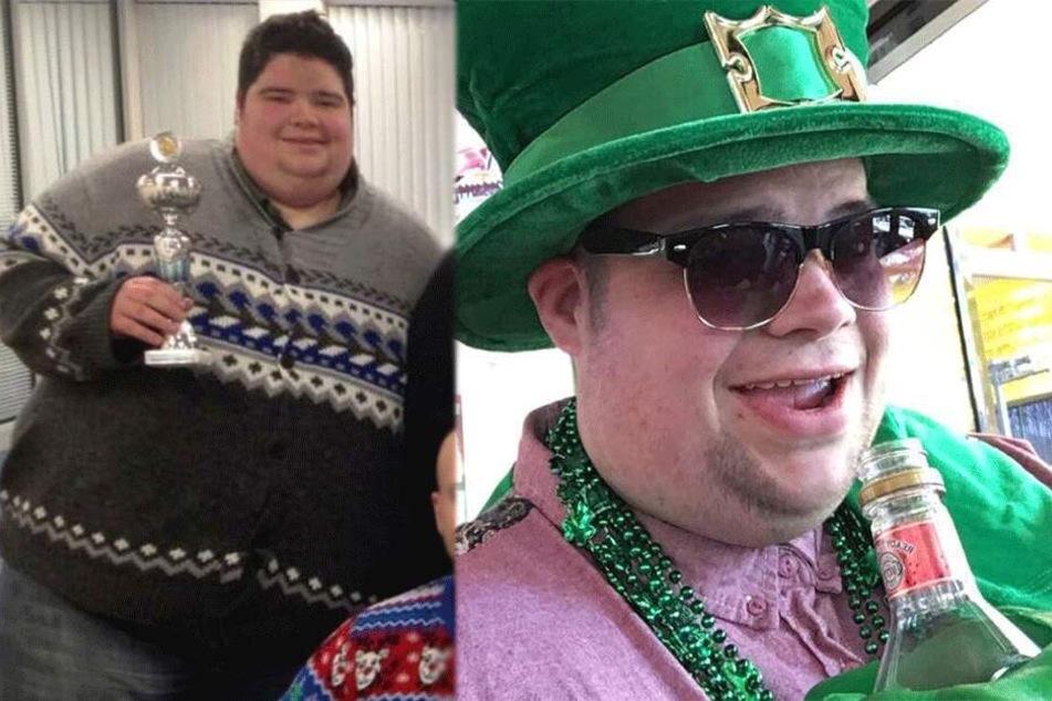 Dan Howie (heute 31) als er noch 270 Kilogramm wog.