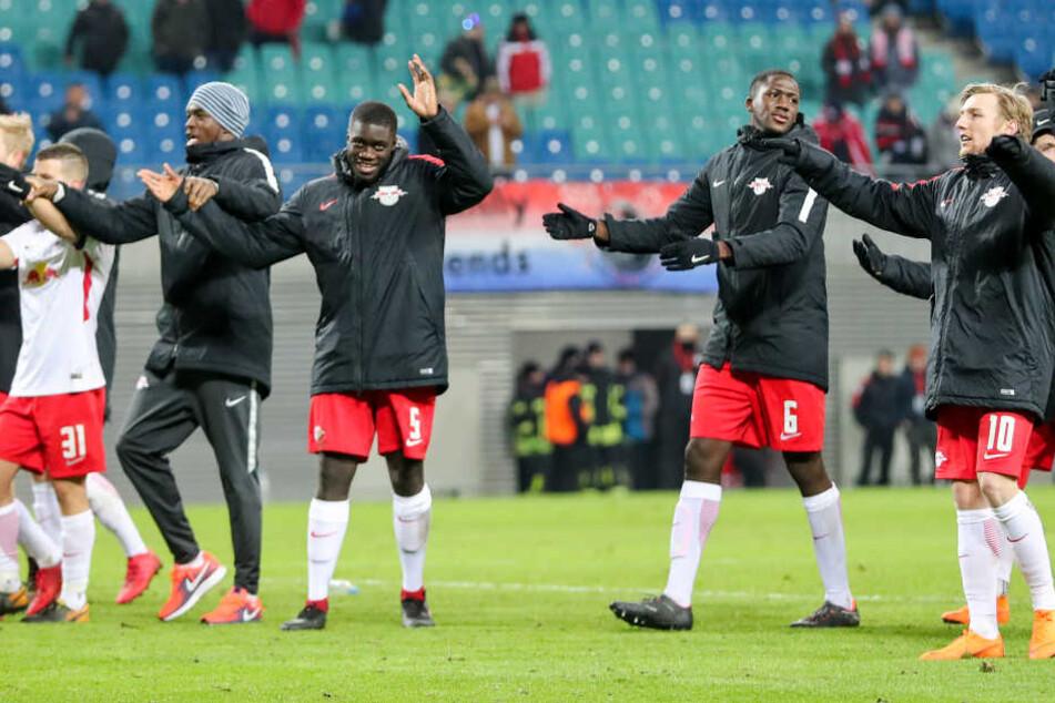 Feiern nach einer Niederlage: Ungewohnte Erfahrung für RB Leipzig.