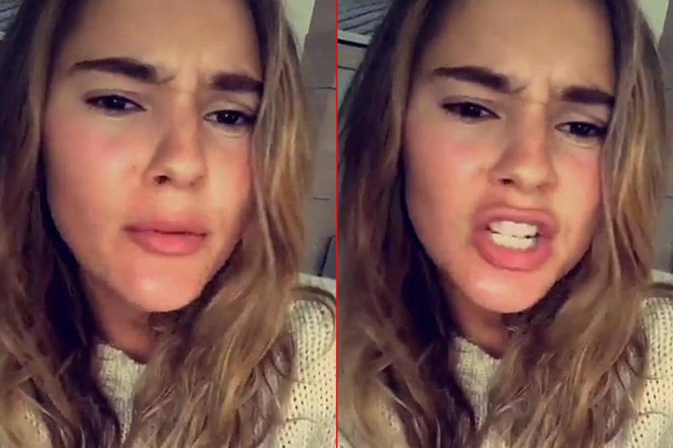 Auf Snapchat erzählt Stefanie Giesinger ihren Fans, wie sie fast auf dem Horror-Festival gelandet ist.