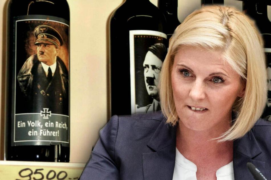 Vor Hitler-Weinflaschen geräkelt: AfD schmeißt Jessica Bießmann vorerst nicht raus