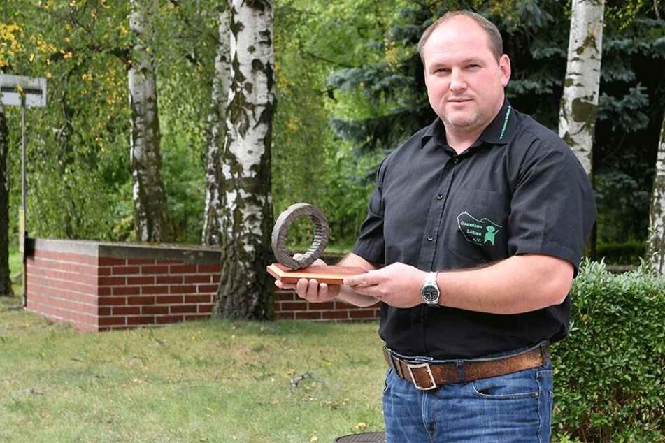Dank seiner Recherchen wurde der Löbauer Panzer in Dresden  wiederentdeckt: Vereins-Chef Danilo Baumgarten (36).