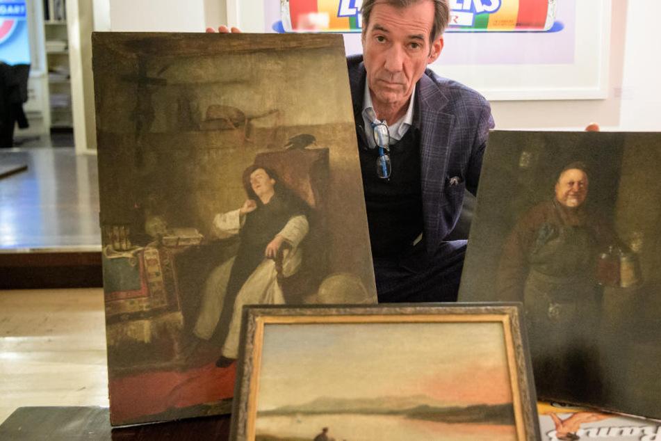 Gemälde ruiniert? Der Galerist Andreas Baumgartl klagt gegen einen Restaurator.