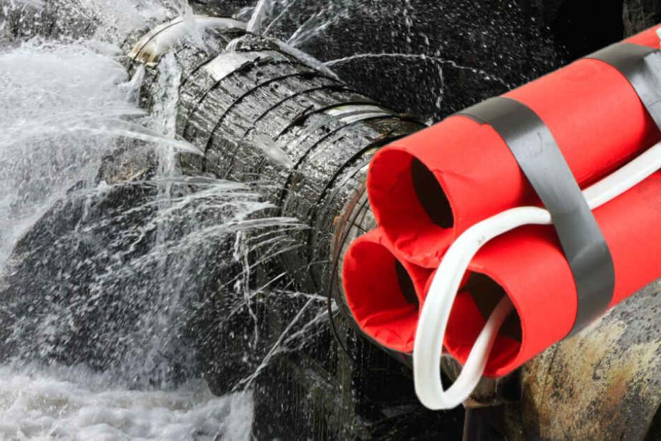 55-Jähriger versteckt Sprengsätze im Wasserrohr. (Symbolbild)
