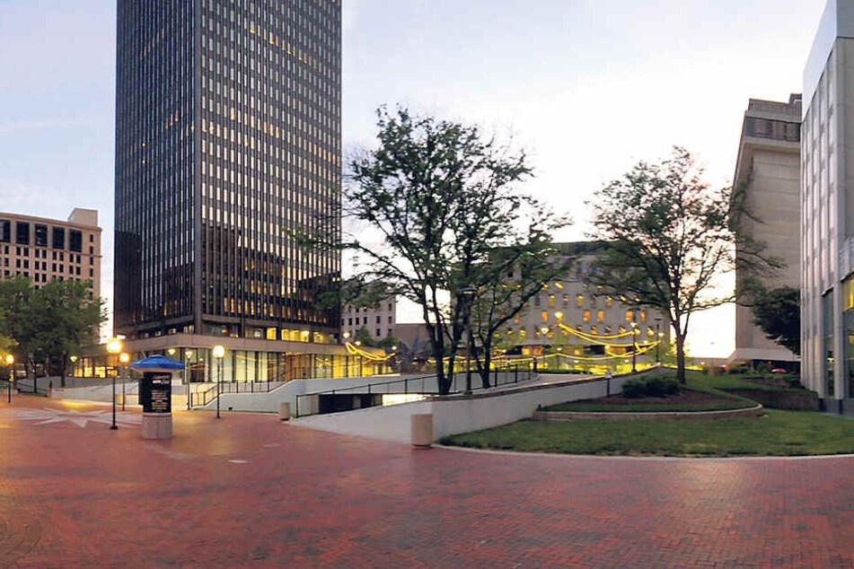 Leere Straßen zwischen den Wolkenkratzern: Akron hätte gern mehr Menschen in der City.