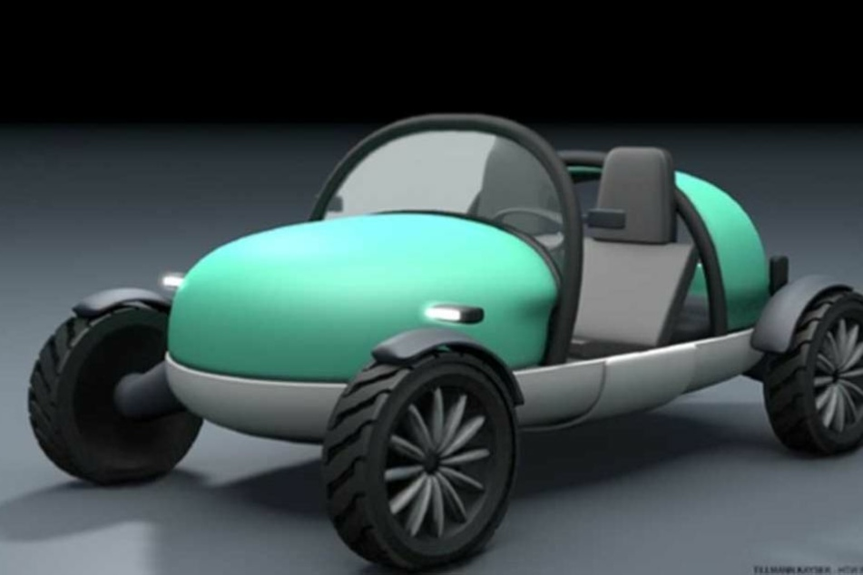 Dieses Auto ist aufblasbar, doch zunächst soll ein Prototyp hergestellt werden.