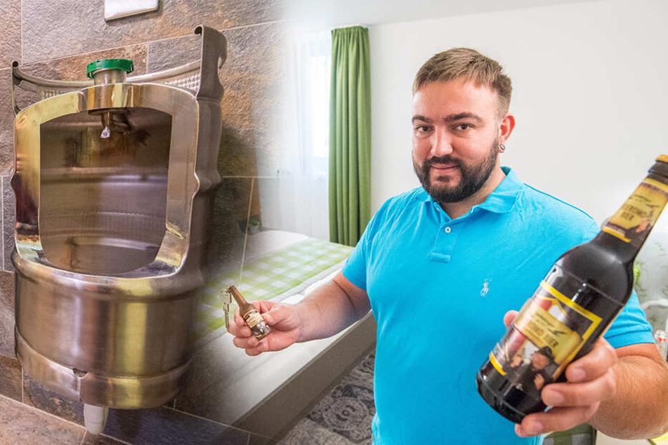 Zwönitzer Brauerei und ihre Pissoirs: Vier Sterne für die Bierfass-Idee