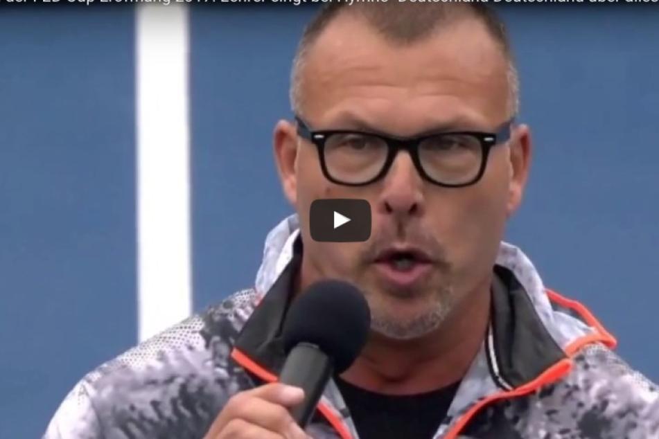 Tennisskandal! Hymnen-Sänger singt erste Strophe des Deutschlandliedes