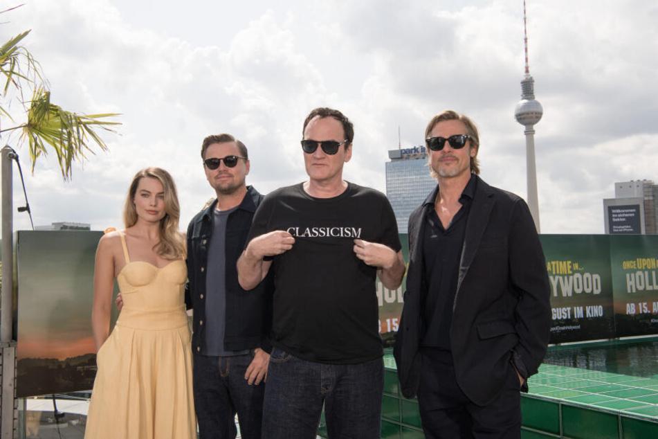 """Anlass dafür ist die Premiere von Quentin Tarantinos (3.v.l.) neuem Film """"Once upon a time... in Hollywood""""."""