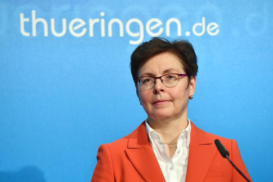 Thüringens Finanzministerin Heike Taubert kann sich über ein dickes Plus in der Staatskasse freuen.