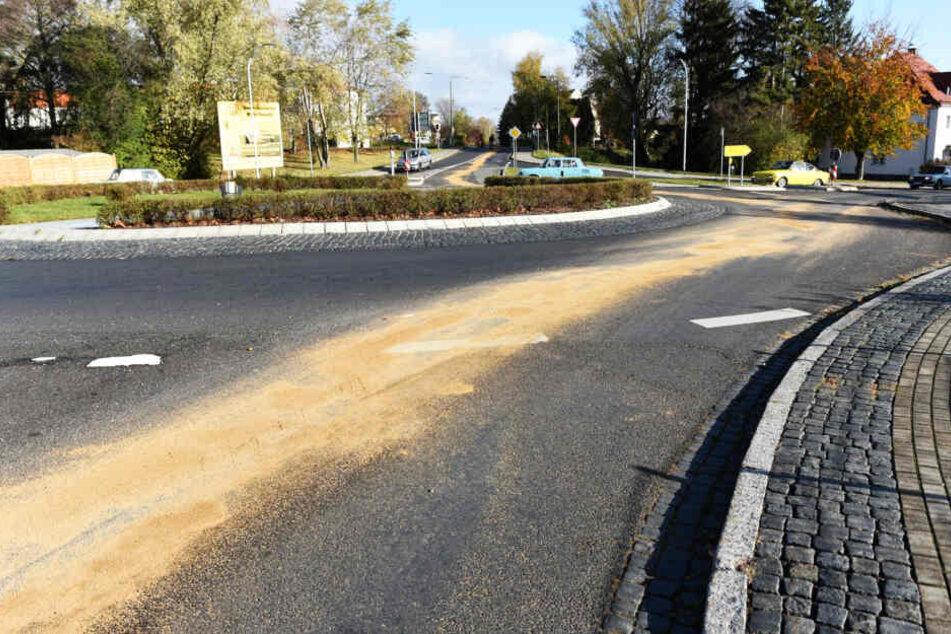 Sand-Spur führt quer durch Olbersdorf: Was war da los?