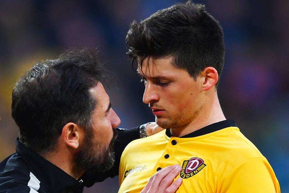 Auch unter Trainer Cristian Fiel (l.) ist Jannis Nikolaou eine wichtigen Säule in der schwarz-gelben Defensive.