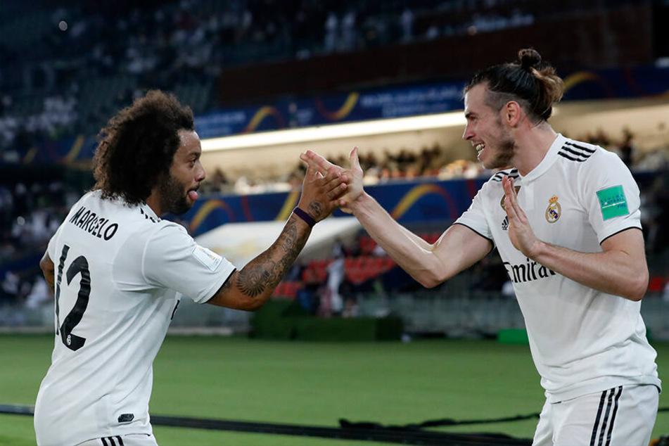 Einer der wenigen gemeinsamen Momente. Marcelo und Gareth Bale bejubeln einen Treffer Bales im vergangen Dezember bei der Klub-Weltmeisterschaft in Abu Dhabi.