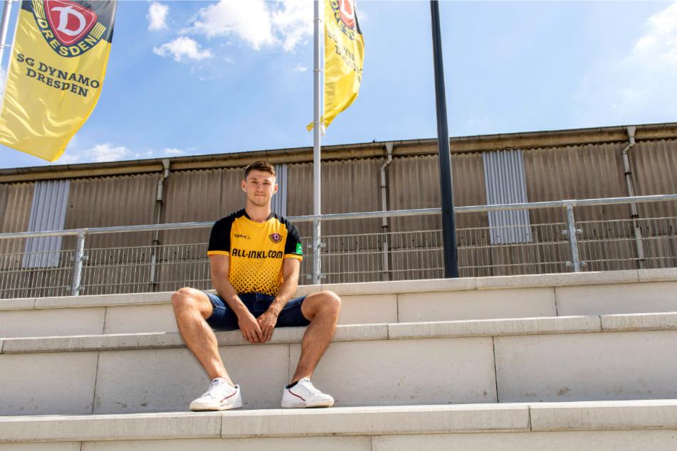 Der bisher achte und letzte Neuzugang: Robin Becker wechselte aus Braunschweig nach Dresden. Mit der Eintracht stieg er vor vier Wochen in die 2. Liga auf.