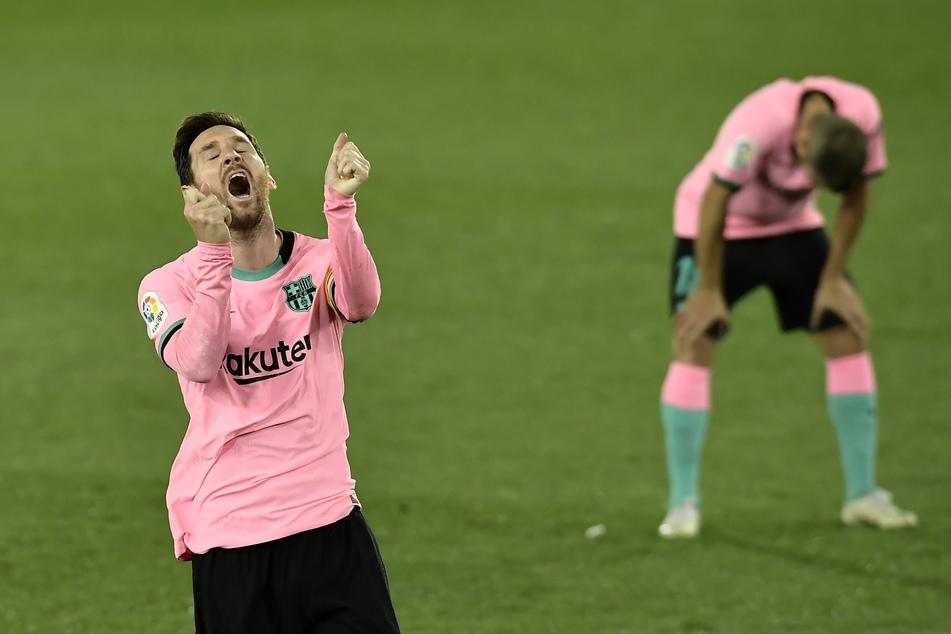 Ein Bild mit Symbolcharakter. Beim FC Barcelona läuft's nicht.