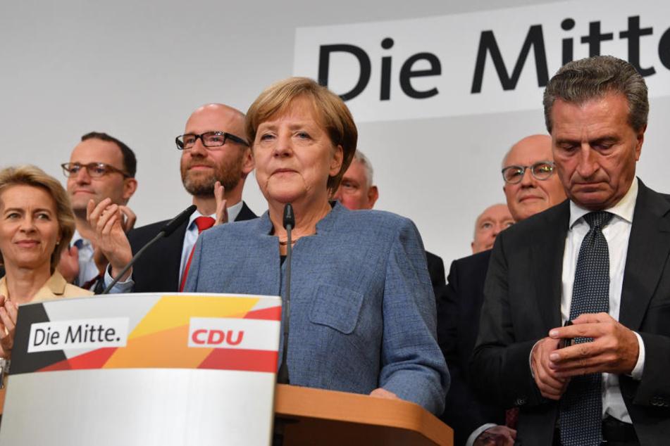Angela Merkel hat mit der Union trotz herber Verluste klar gewonnen.