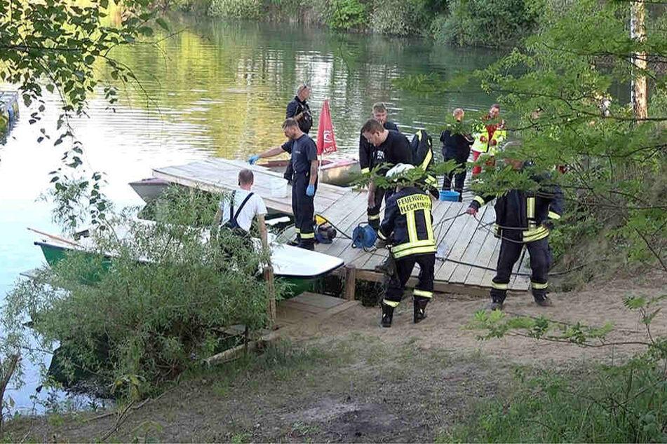 Er wollte noch zum Ufer schwimmen! Mann tot aus Teich geborgen