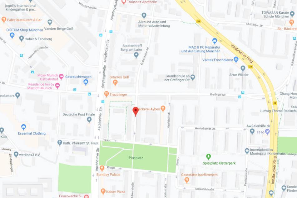 Der Vorfall ereignete sich in der Aßlinger Straße im Münchner Stadtteil Berg am Laim.