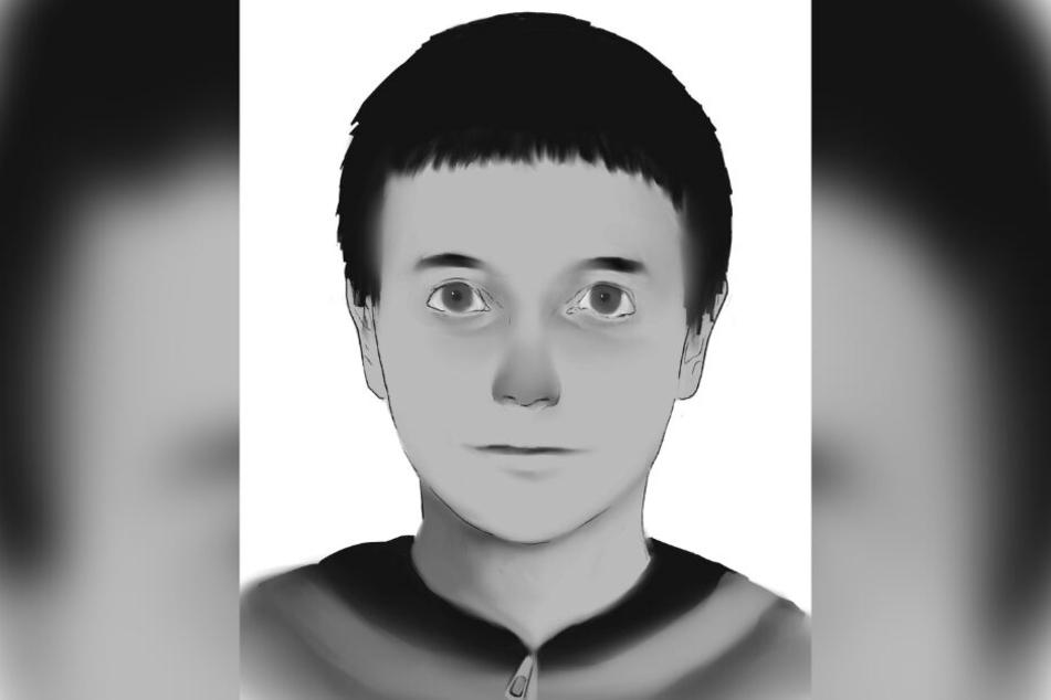 Das Phantombild zeigt einen Jungen mit dunklem Haar.