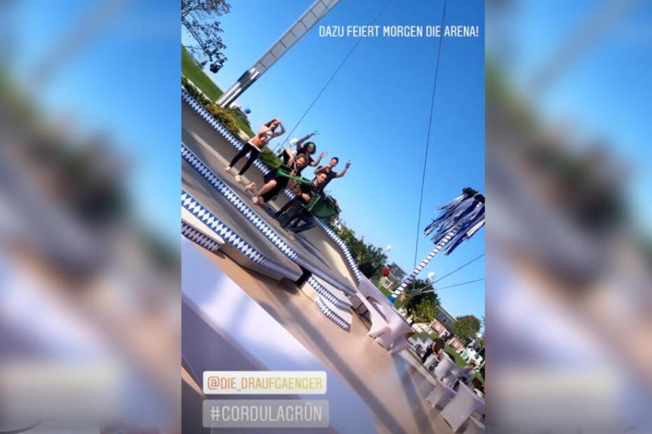 """Das Bild zeigt einen Screenshot aus der Instagram-Story des Fernsehgartens zu """"Die Draufgänger""""."""