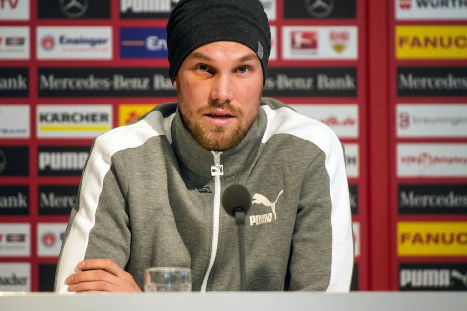 Mit Tränen in den Augen beendete Kevin Großkreutz am Freitag in Stuttgart seine Karriere.