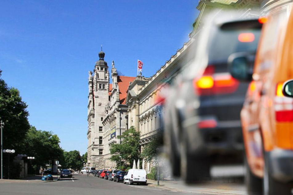 Die Leipziger Innenstadt, wie hier am Neuen Rathaus, ohne Autos? Das könnte am 20. September 2020 umgesetzt werden. (Bildmontage)