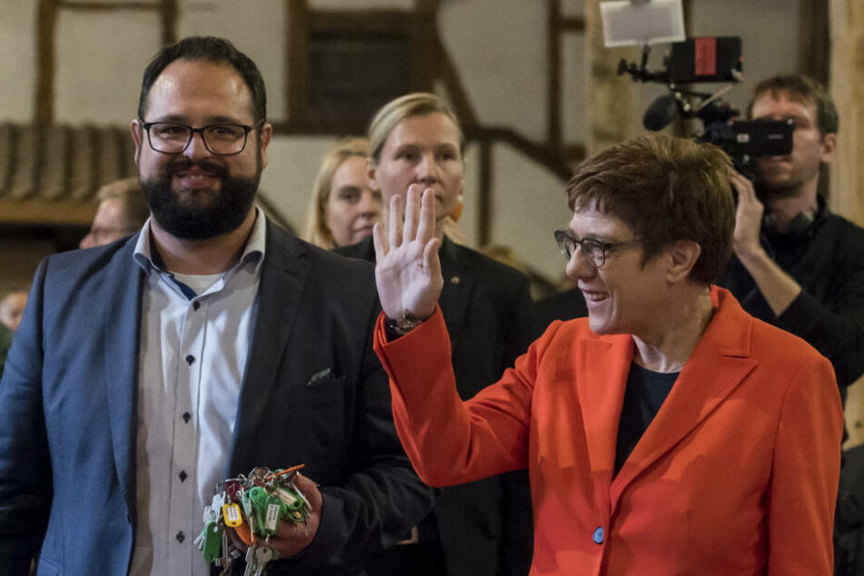 Die Parteichefin war am Sonntag im Eichsfeld unterwegs.