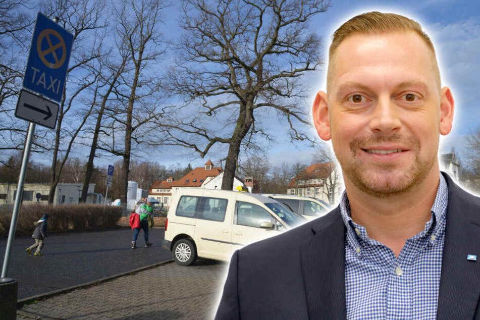 Weil der Parkplatz auch Fußweg ist: Genervte Taxifahrer am Klinikum Chemnitz