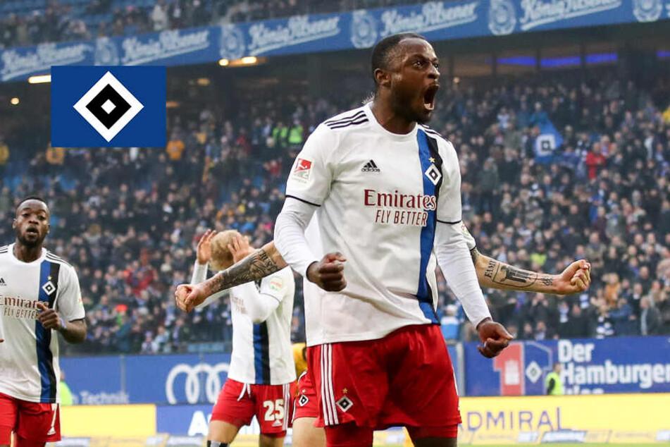 Kinsombi köpft den HSV zum Last-Minute-Sieg gegen Dynamo Dresden