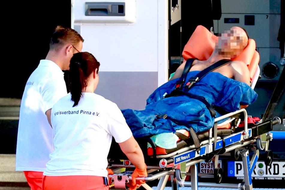 Laut Augenzeugen wollte sich der Marokkaner mit dem gemeinsamen Kleinkind aus dem Fenster der Dachwohnung stürzen.