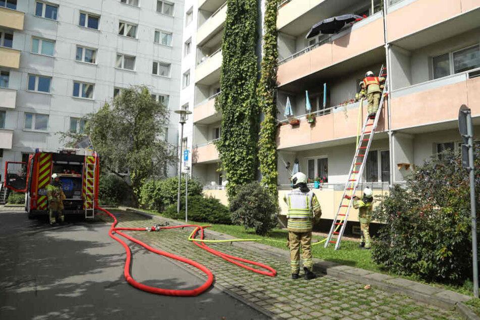 Der oder die Bewohner der betroffenen Wohnung waren nicht zu Hause, als das Feuer ausbrach.