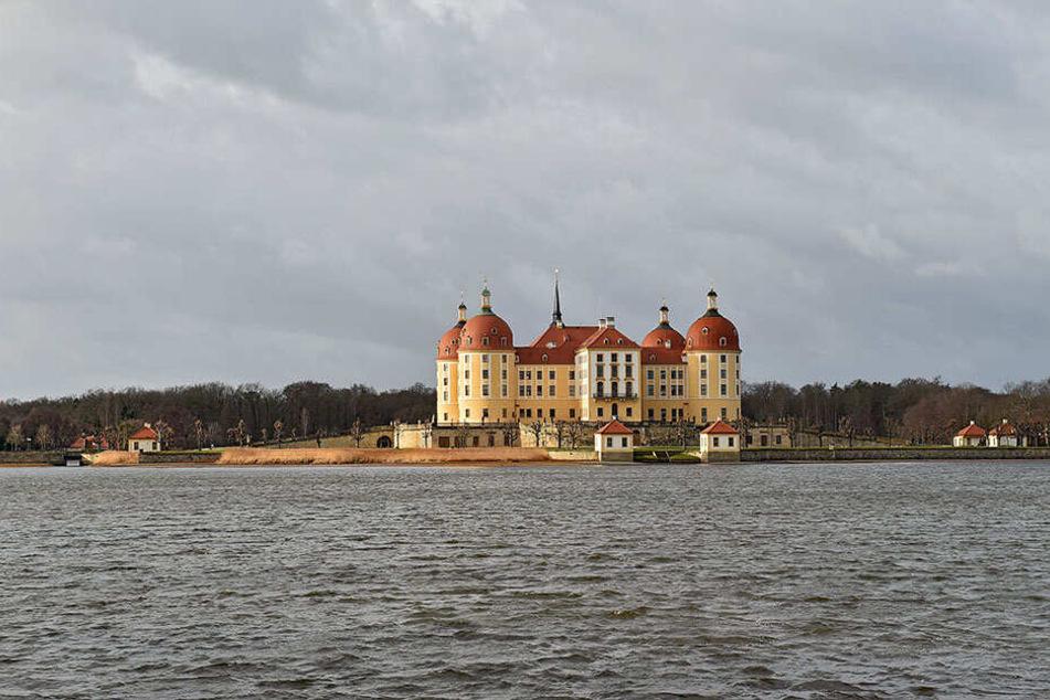 Der Kanal befindet sich südöstlich von Schloss Moritzburg am Fasanenschlösschen.