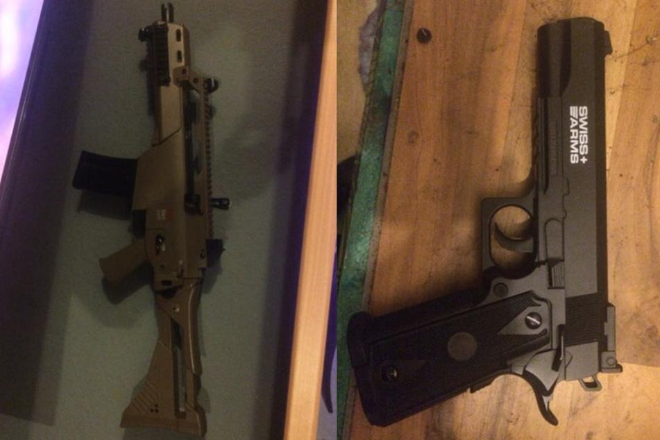 Außerdem fand die Polizei noch vier Schreckschusswaffen.