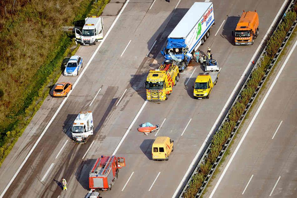 Die Brandenburger Polizei setzt nun auch Hubschrauber gegen Fahrsünder ein - damit solche Bilder nicht mehr entstehen.