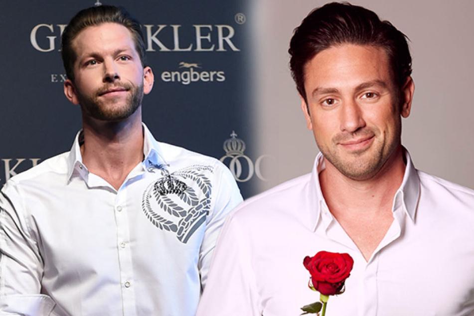 Von seinem Nachfolger Daniel Völz (33, r.) hält Ex-Bachelor Oliver Sanne (31) nicht viel.