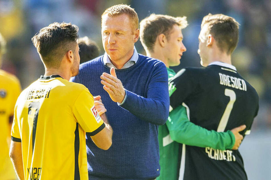 Unter Trainer Maik Walpurgis (r.) wurde Niklas Kreuzer schon vielseitig eingesetzt.